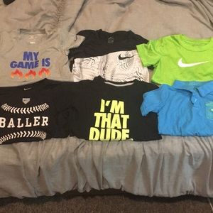 6 Nike tees in super condition! For Boy Size 7